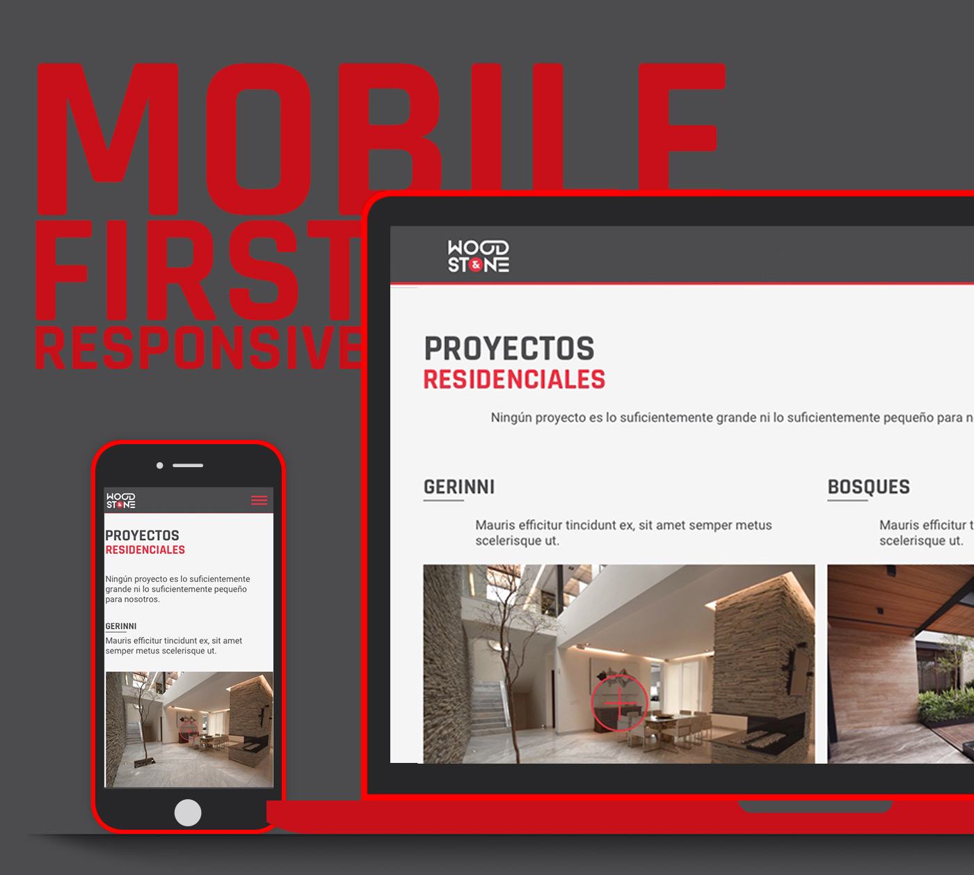 proyecto WOOD & STONE mobile devices development